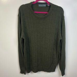 Oscar de la Renta Men's Crewneck Knit Sweater XL